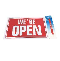 "11.8""x7.9"" Sign [WE'RE OPEN]"