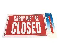 "11.8""x7.9"" Sign [SORRY WE'RE CLOSED]"