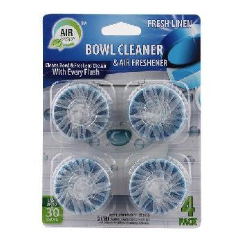 4pk AirFusion Toilet Bowl Cleaner & Freshener [Linen]