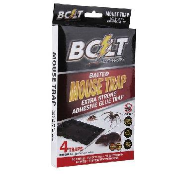 4pk Bolt Baited Mouse Glue Trap