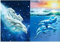 3D Picture 9720--Dolphins