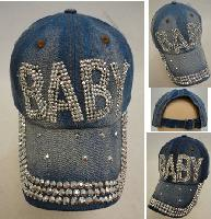 Denim Strapback Hat with Bling Bling [BABY]