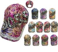 Lace Floral Hat with Bling Bling [Assortment]
