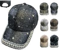 Ladies Sparkle Hat Assortment [Bling/Pearls]