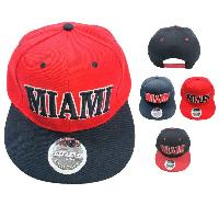 Snap Back Flat Bill Hat [MIAMI]