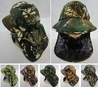 Legionnaires Hat-Hardwood Camo with Front Mesh Face Cover