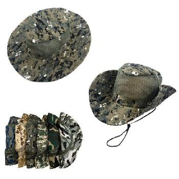 Assorted Camo Mesh Boonie Hat - Assorted Colors