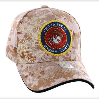 Licensed Camo US Marine Corps Seal Hat [Globe&Anchor Shadow]