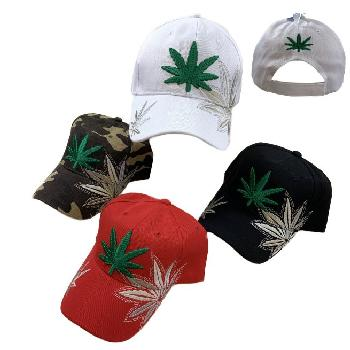 Embroidered Marijuana Hat [Double Shadow]