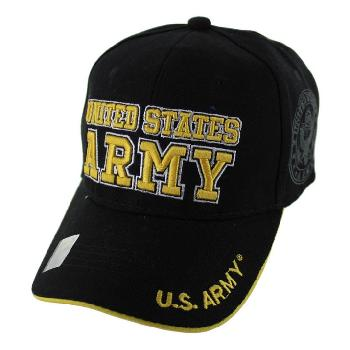 Licensed Black UNITED STATES ARMY Hat [Shadow Seal]