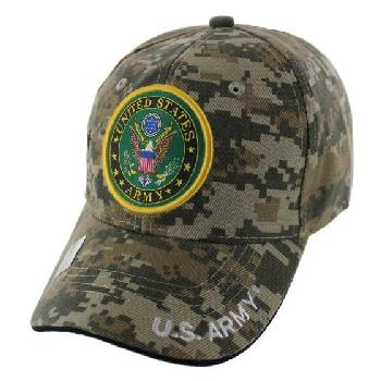Licensed Camo United States Army Seal Hat [Star Shadow]
