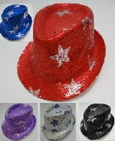 Fedora Hat-Sequins with Stars