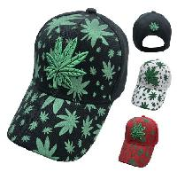 Embroidered/Printed Marijuana Hat