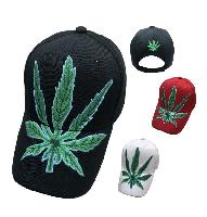 Large Marijuana Leaf Hat