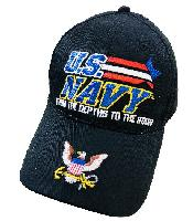 Licensed US NAVY Hat *FROM THE DEPTHS TO THE STARS