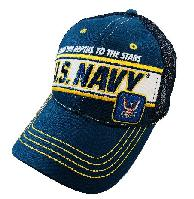 Licensed US Navy Mesh Hat [From the Depths to the Stars]