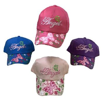 Girl's Embroidered Ball Cap [Angel] Printed Bill