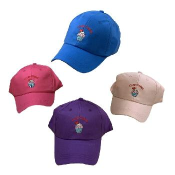 Girl's Embroidered Ball Cap [Cup Cake]