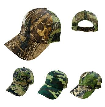 Camo Mesh Ball Cap [Buckled Back]