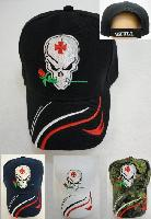Skull with Rose Hat [Stripes on Bill] - <b>Assorted colors</b> [Colors upon availability]