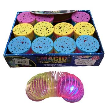"2.75"" Magic Spring Toy [Light Up Rainbow]"