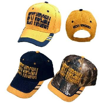 WEST VIRGINIA Hat [Window Shade Font]