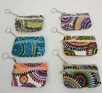 "5""x3.25"" Two-Compartment Zippered Change Purse [Psychedelic]"