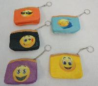 "4""x3.5"" Zippered Change Purse [Emojis]"