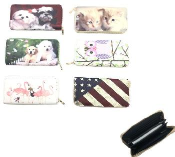 "7.5""x4"" Zippered Wallet [Assorted Prints]"