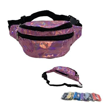 Shiny Waist Pack [Black Zipper]