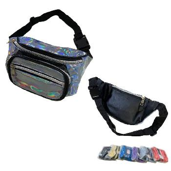 Shiny Waist Pack [Silver Zipper]