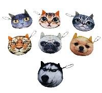 "3.5"" Small 3D Animal Face Change Purse"