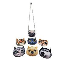 "6.25"" Large 3D Animal Face Cross Body Purse"