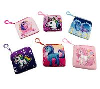 "5""x4.75"" Printed Unicorn Change Purse"