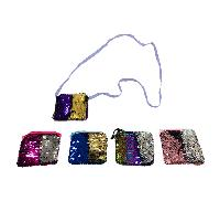 "4""x3.75"" Reversible Sequin Change Purse [Cross Body]"