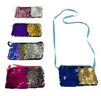 "7""x4.25"" Reversible Sequin Change Purse [Crossbody]"
