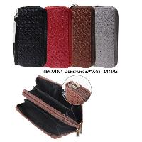 Ladies Dual Zipper Wallet with Wrist Strap [Stitch Design]