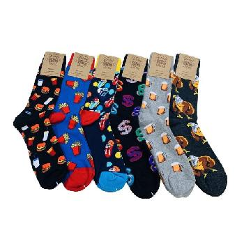 1pr Crew Socks 10-13 [Fun Prints]