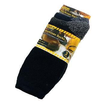 3pr Workman's Crew Socks 10-13 [Asst Color]