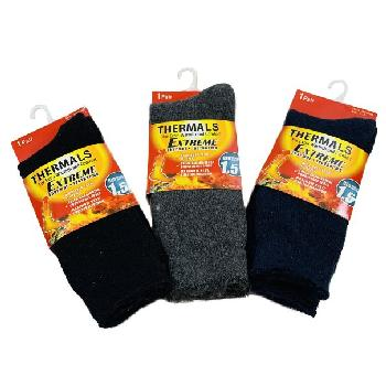1pr Men's Extreme Thermal Crew Socks 10-13 [Brushed Interior]