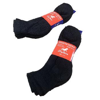 3pr Diabetic Quarter Socks 9-11 [Black]