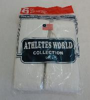 6pr Bag of White Tube Socks 10-13