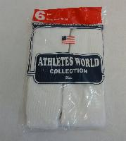 6pr Bag of White Tube Socks 10-15