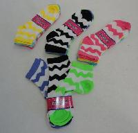 3pr Ladies/Teen Anklets 9-11 [Chevron]