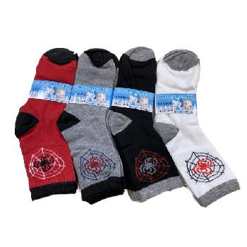 3pr Boy's Quarter Socks 6-8 [Spider]