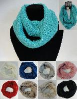 Knitted Infinity Scarf [Loose Knit w/ Sequins]
