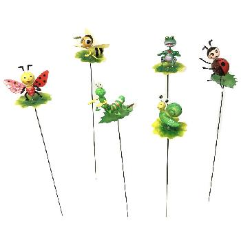 Yard Stake [Insects on Leaves/Lily Pad Assortment]