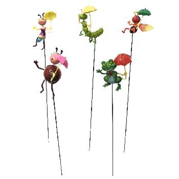 Yard Stake [Frog/Bee/ Bugs with Umbrella]