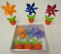 3pk Pinwheel in Flower Pot