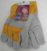 Heavy Duty Leather Work Gloves--Gold